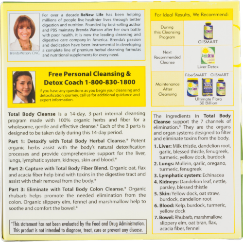 Renew Life Total Body Cleanse Kit Perspective: bottom