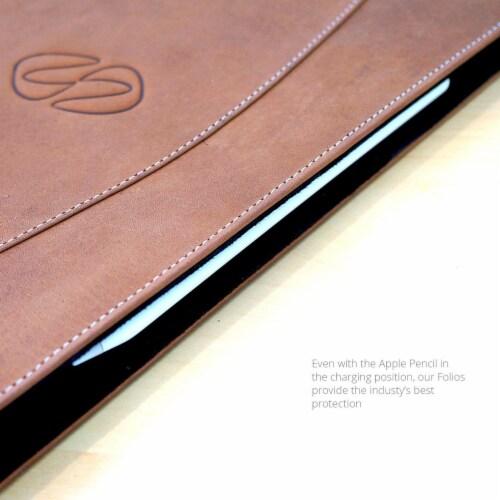 MacCase Leather 12.9  Gen 5 IPad Pro Folio Case - Brown Perspective: bottom