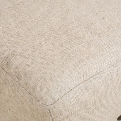 Chantal 30-Inch Beige Linen Fabric Bar Stools (Set of 2) Perspective: bottom