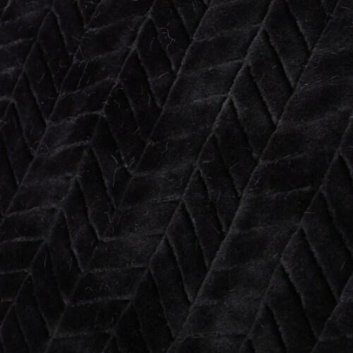 Tuscan Black Faux Fur Throw Blanket Perspective: bottom