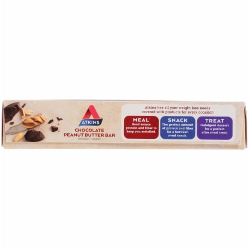 Atkins  Meal Bar Chocolate Peanut Butter - 8 Count Perspective: bottom
