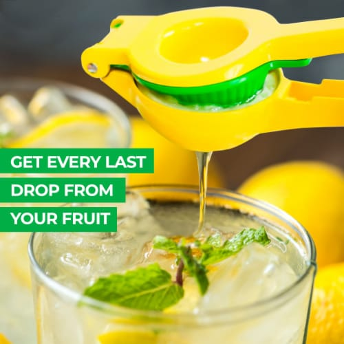Zulay Kitchen Premium Quality Metal Lemon Lime Squeezer - Manual Citrus Press Juicer Perspective: bottom