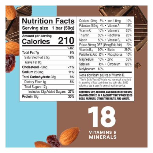 ZonePerfect® Chocolate Almond Raisin Nutrition Bars Perspective: bottom