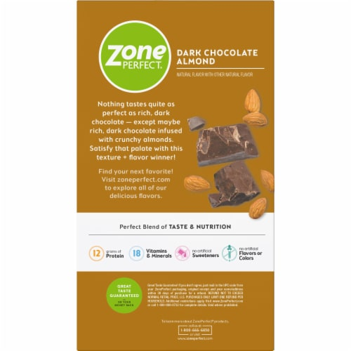 ZonePerfect Dark Chocolate Almond Nutrition Bars Perspective: bottom