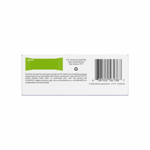 ZonePerfect® Chocolate Chip Cookie Dough Protein Bars Perspective: bottom