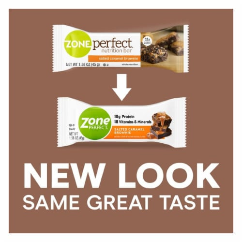 ZonePerfect Salted Caramel Brownie Nutrition Bars Perspective: bottom