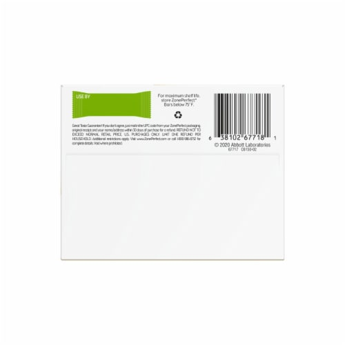 ZonePerfect Oatmeal Chocolate Chunk Nutrition Bars Perspective: bottom