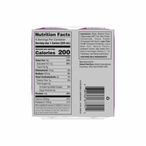 ZonePerfect Keto Chocolate Ready to Drink Shakes Perspective: bottom