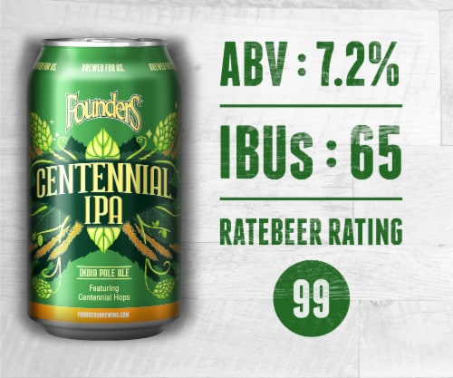 Founders Brewing Centennial IPA Perspective: bottom