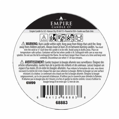 Nature's Own Acai Berries Soy Wax Natural Candle Perspective: bottom