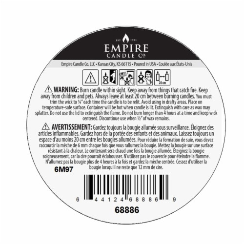 Nature's Own Patchouli Amber Soy Wax Candle Perspective: bottom