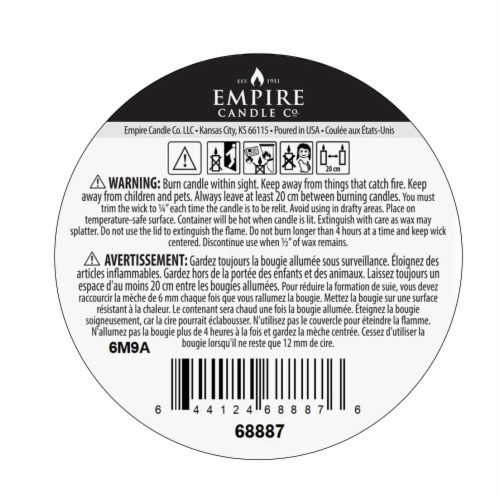Nature's Own Wild Tuberose Soy Wax Candle Perspective: bottom