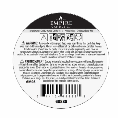 Nature's Own Lavender Shea Soy Wax Natural Candle Perspective: bottom