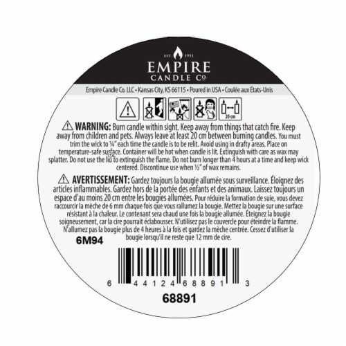Nature's Own Vanilla Peppermint Soy Wax Natural Candle Perspective: bottom