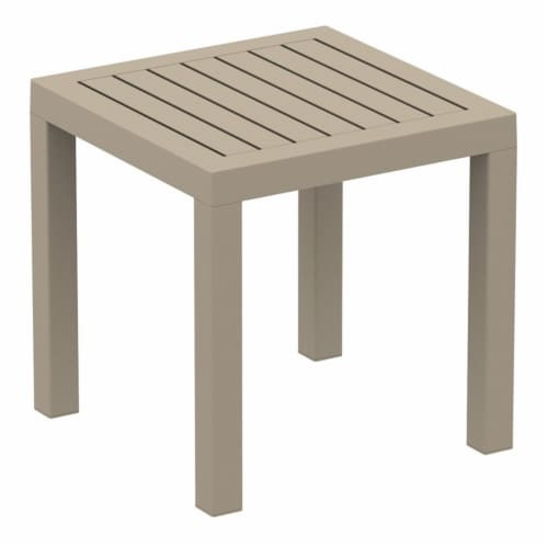 Artemis XL Club Patio Set 7 Piece Taupe with Acrylic Fabric Natural Cushions Perspective: bottom