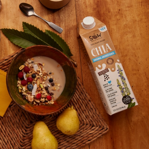 Seeds of Wellness Chia Unsweetened Original Non-Dairy Beverage Perspective: bottom