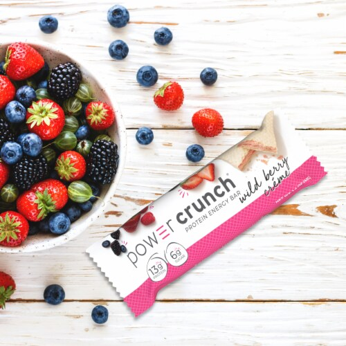 Power Crunch Wild Berry Creme Protein Energy Bars Perspective: bottom