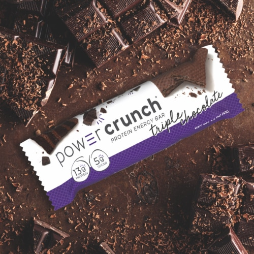 Power Crunch® Triple Chocolate Protein Energy Bars Perspective: bottom