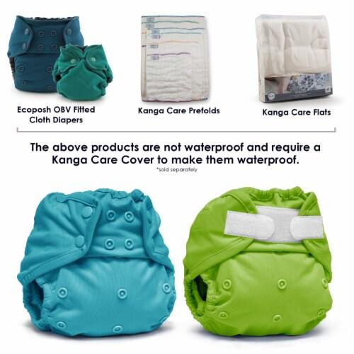 Kanga Care Rumparooz One Size Reusable Cloth Diaper Cover Aplix Dragons Fly - Poppy 6-35 lbs Perspective: bottom