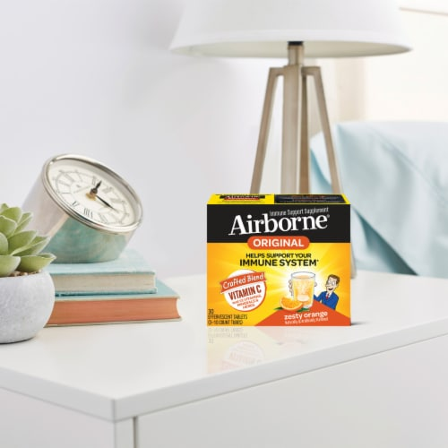 Airborne Zesty Orange Flavor Effervescent Tablets Perspective: bottom