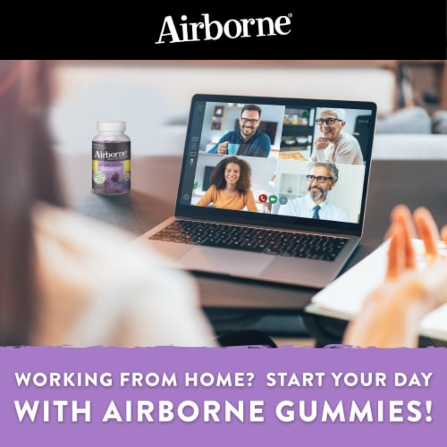 Airborne Elderberry Immune Support Gummies Perspective: bottom