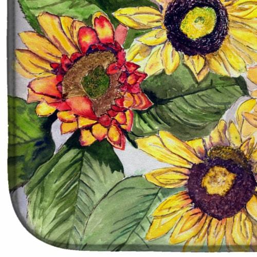 Carolines Treasures  8766DDM Sunflowers Dish Drying Mat Perspective: bottom