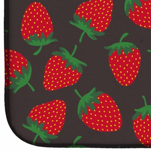 Carolines Treasures  BB5137DDM Strawberries on Gray Dish Drying Mat Perspective: bottom
