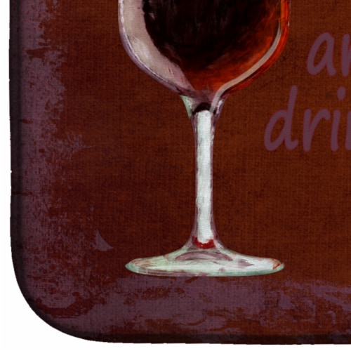 The best wines are the ones we drink with friends Dish Drying Mat Perspective: bottom