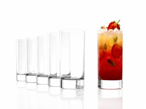 Stolzle Lausitz NY Bar Highball Glasses Perspective: bottom
