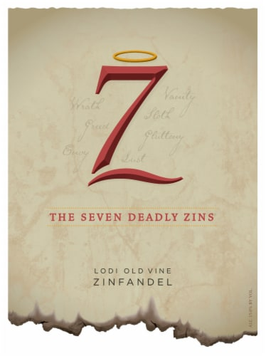 Michael David The Seven Deadly Zins Zinfandel Red Wine Perspective: bottom