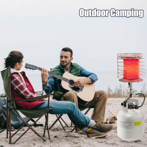 Gymax Portable Tank Top Propane Heater Outdoor 42,000 BTU Camping Perspective: bottom