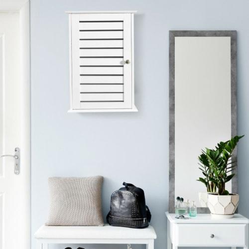 Gymax Wall Mount Medicine Cabinet Multifunction Storage Organizer Bathroom Kitchen Perspective: bottom