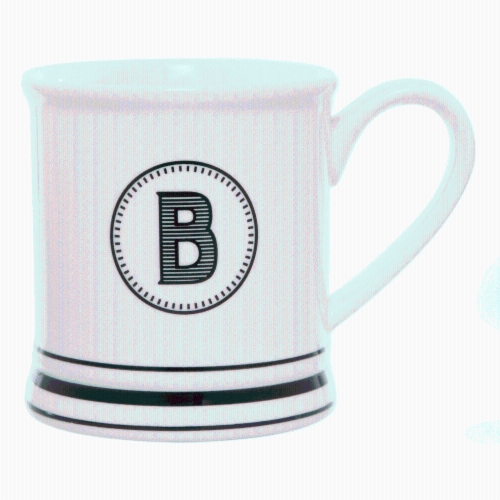 PMI Worldwide Barber Shop Monogrammed Mug - White/Black Perspective: bottom