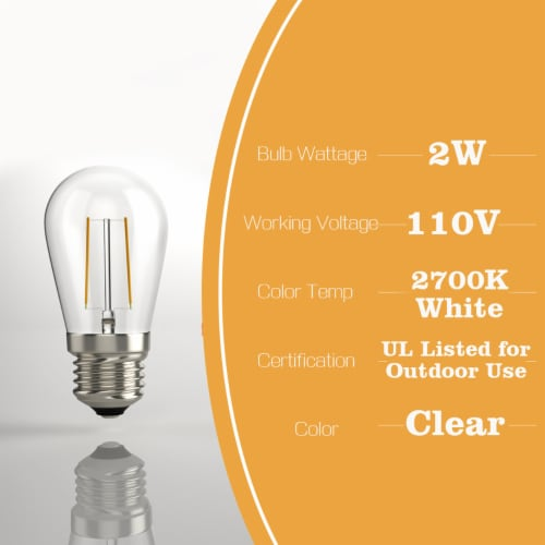 Costway 36FT LED Outdoor Waterproof Commercial Grade Patio Globe String Lights Bulbs Perspective: bottom