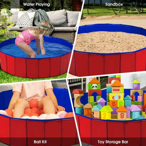 Costway 48  Foldable Kiddie Pool Kids Bath Tub Ball Pit Playpen Indoor Outdoor Portable Perspective: bottom