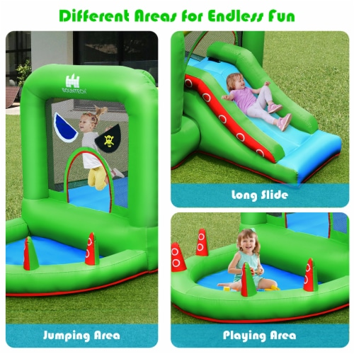 Costway Inflatable Bouncer Kids Bounce House Jump Climbing Slide BallPit Without Blower Perspective: bottom
