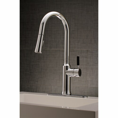 Gourmetier LS2721DKL Single-Handle Pull-Down Kitchen Faucet, Polished Chrome Perspective: bottom