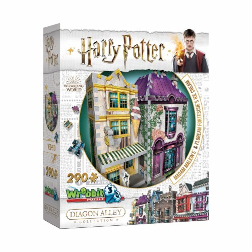Harry Potter Diagon Alley Collection Madam Malkin's & Florean Fortescue's Ice Cream 3D Puzzle Perspective: bottom