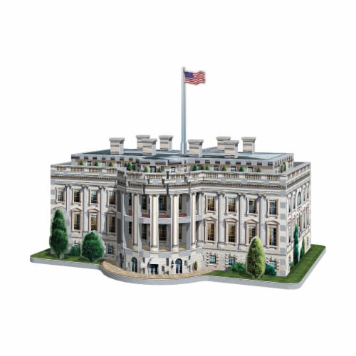 Wrebbit The White House 3D Puzzle Perspective: bottom