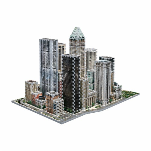 Wrebbit New York Collection Financial 3D Puzzle Perspective: bottom