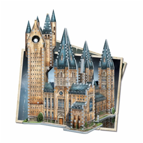 Wrebbit Harry Potter Collection Hogwarts Astronomy Tower 3D Puzzle Perspective: bottom