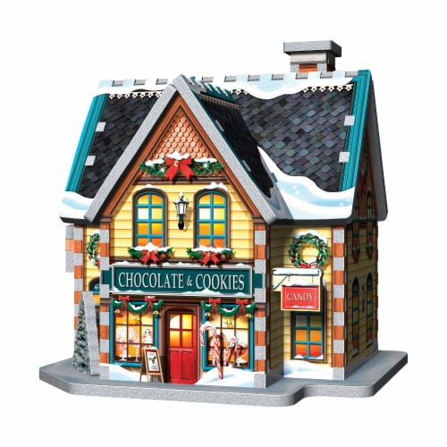 Wrebbit Christmas Village 3D Puzzle Perspective: bottom