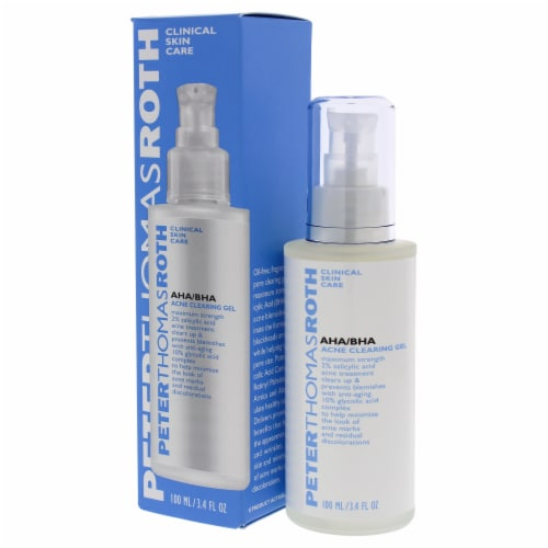 AHA-BHA Acne Clearing Gel by Peter Thomas Roth for Unisex - 3.4 oz Treatment Perspective: bottom