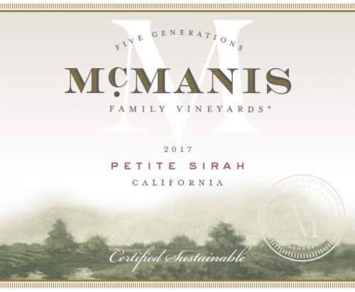 McManis Family Vineyards Petite Sirah Red Wine Perspective: bottom