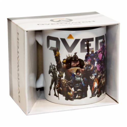 Overwatch Mug | Overwatch Characters and Logo Mug | Collector's Edition Perspective: bottom