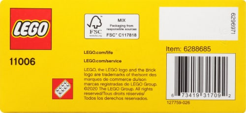 11006 LEGO® Classic Creative Blue Bricks Perspective: bottom
