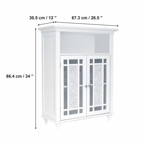 Elegant Home Fashions Wooden Bathroom Floor Cabinet Doors Windsor White ELG-529 Perspective: bottom