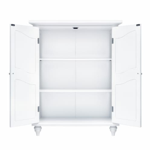 Elegant Home Fashions Wooden Bathroom Floor Cabinet White Versailles ELG-550 Perspective: bottom