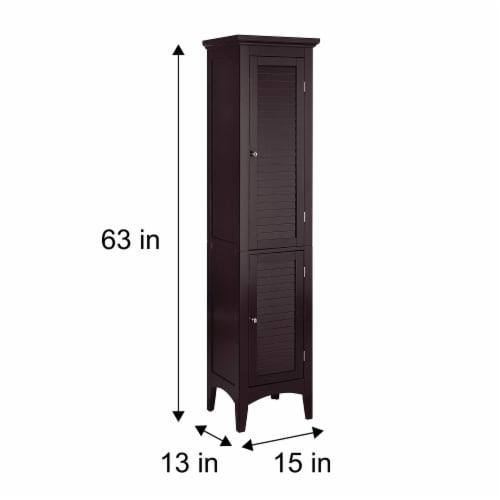 Elegant Home Fashions Wooden Bathroom Cabinet Standing Tall Unit Brown ELG-598 Perspective: bottom