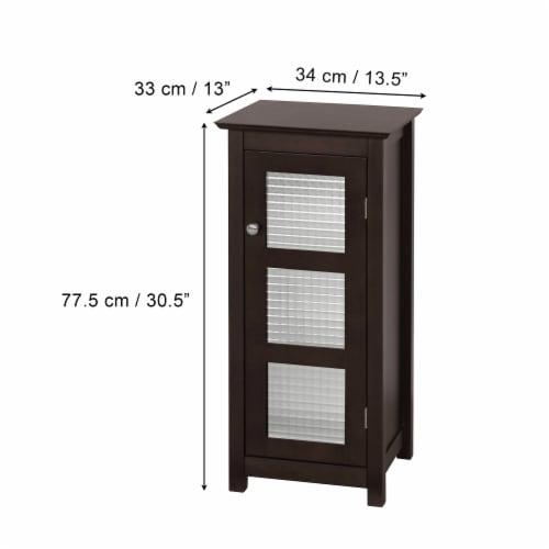 Elegant Home Fashions Wooden Bathroom Cabinet Floor & Glass Door Brown 6216 Perspective: bottom